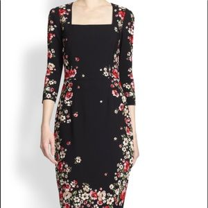 Dolce and Gabbana Floral Sheath Midi Dress Sz 42/8